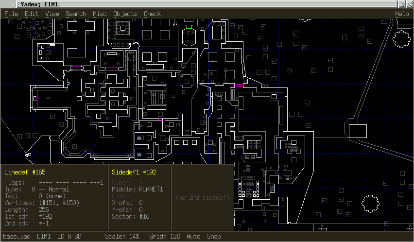Doom map editing on Linux with Yadex  – Securitron Linux blog