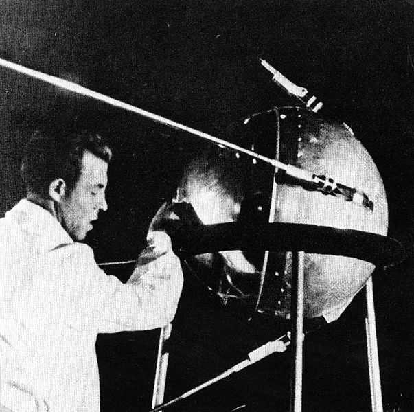 Russian Sputnik Satellite.