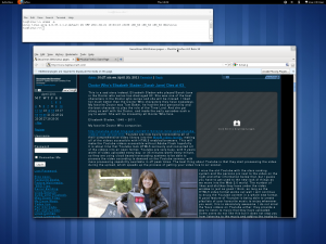 Gnome 3 dekstop & windows.