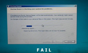 Windows disk errors.