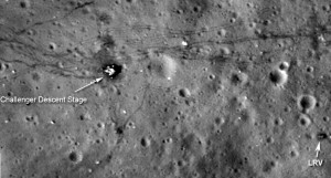 Apollo lunar landing site.