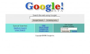 Google search engine beta.