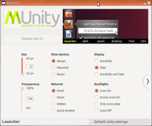 The MyUnity configuration application.