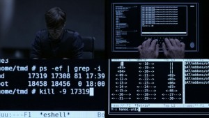 Tron Legacy UNIX command-line usage. And GNU/Emacs.