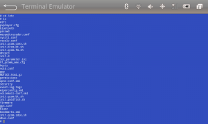 Terminal Emulator app for Android.