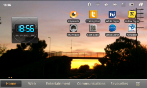The Telstra T Tab homescreen.