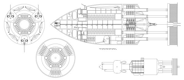Project Orion spacecraft. One way to get to the asteroids.