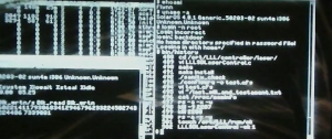 TRON Legacy screen-shot. Using the history command.