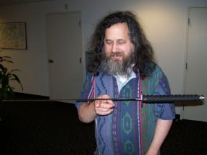 Richard Stallman, a defender of software freedom.