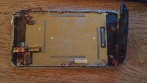 Iphone 3gs shot of the rear of the LCD screen.