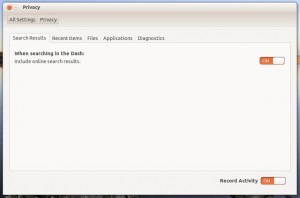 How to turn off the Amazon ads in the Ubuntu 12.10 Unity desktop.