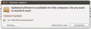Prompting to install updates in Ubuntu 12.10.