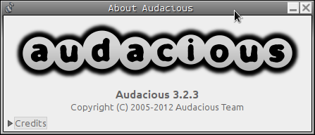 Audacious about screen.