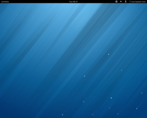 The Fedora 18 Gnome desktop.
