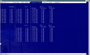 The Linux Powertop utility in action.