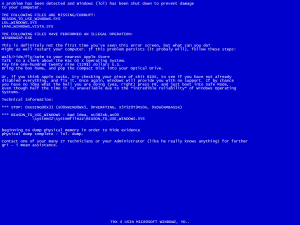 Funny Windows BSOD picture.