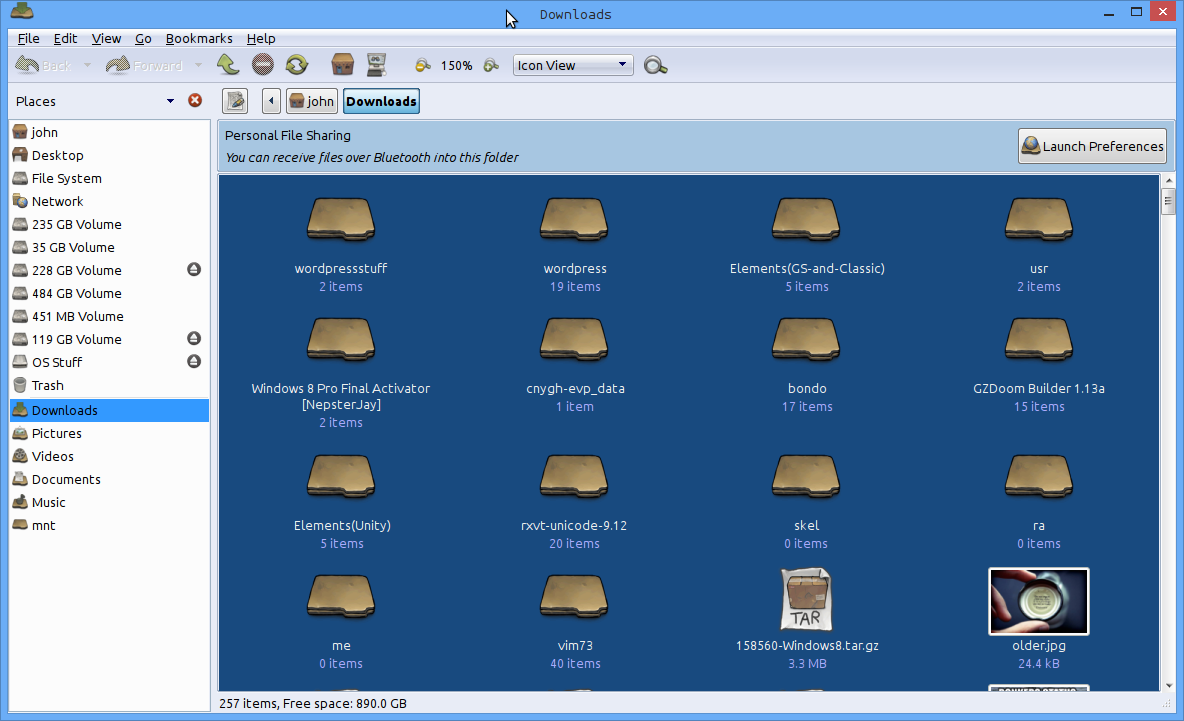 Caja themed with the Windows 8 look.