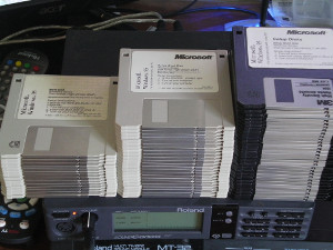 Windows 95 floppies.