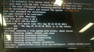My laptop needing fsck.