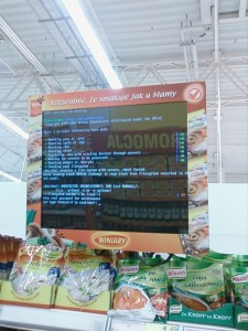 Supermarket in Poland running Linux on their display.