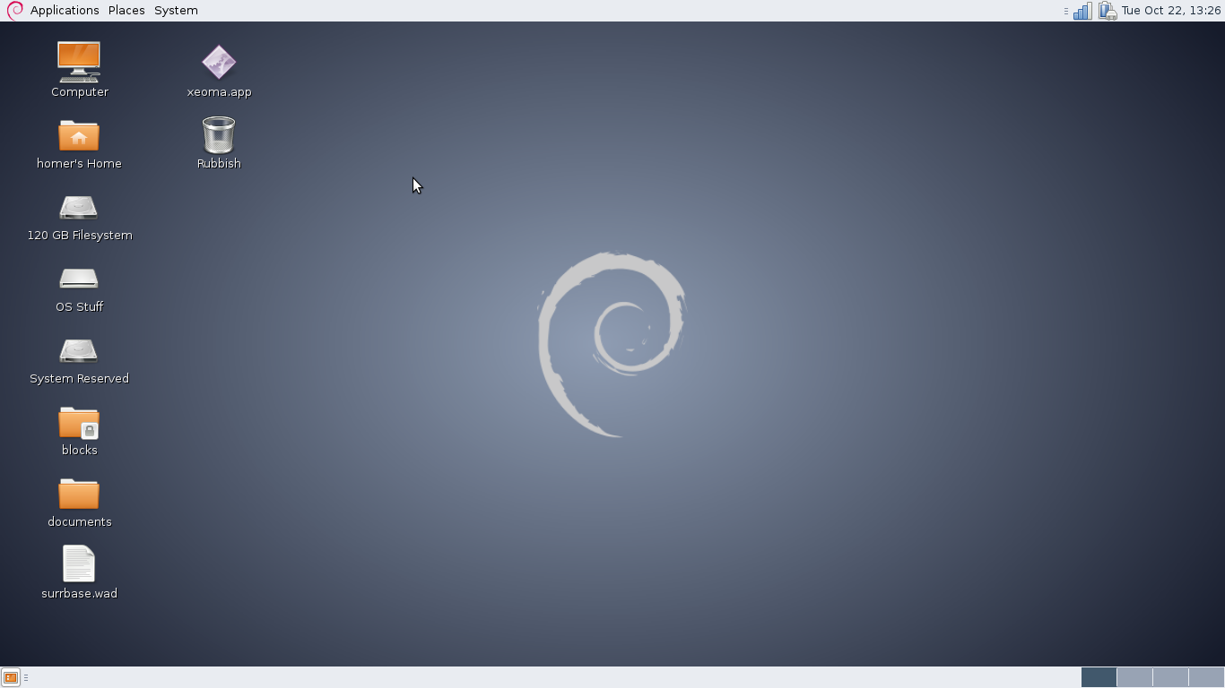 The MATE desktop running on Debian 7.1