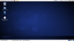 The CentOS Linux desktop.
