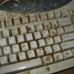 Very dirty and grubby keyboard.