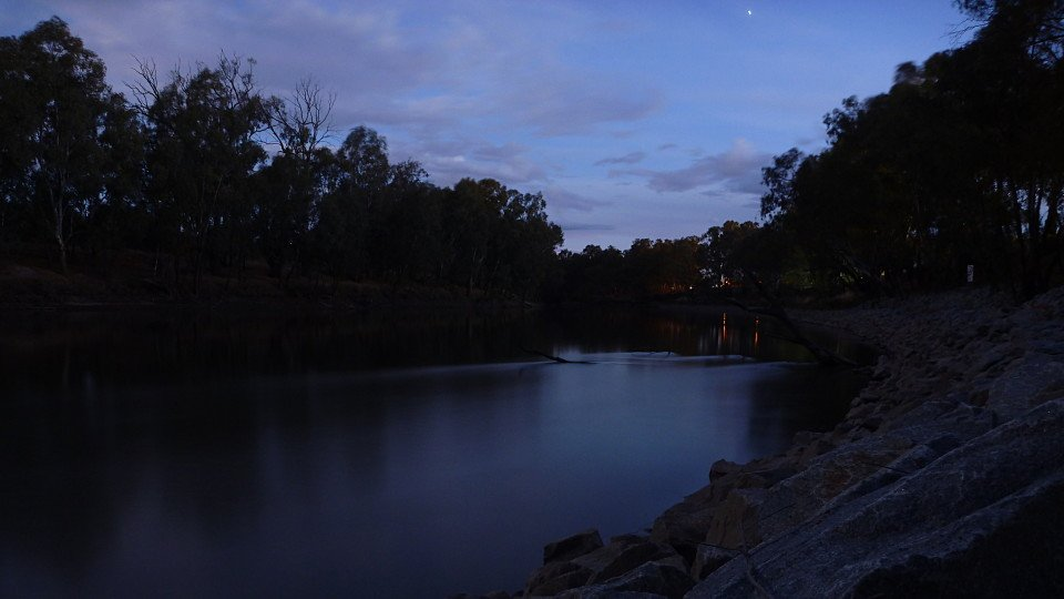 Long exposure. This was 60 seconds.
