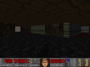 An example of lighting levels in E2M6.