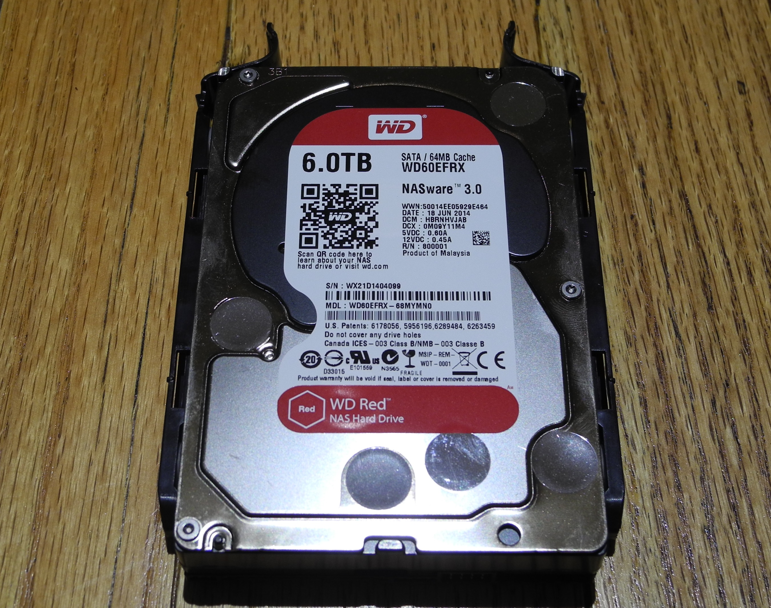 6 Terabyte WD red NAS drive.
