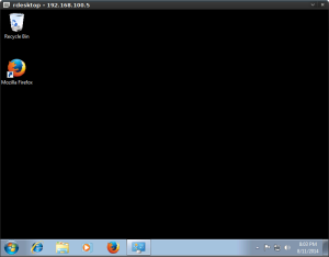 Windows 7 RDP using rdesktop for Linux.