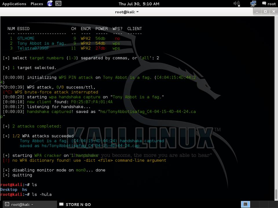 Cracking a WPA2  cap file with aircrack-ng on Debian Linux  Hacking
