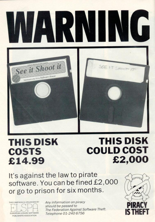 An old anti-piracy advertisement.