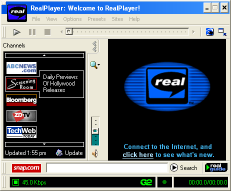 Realplayer. This was cool in the 90s...