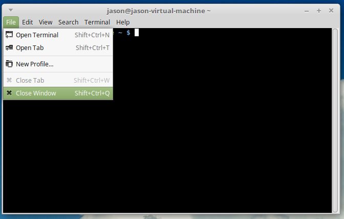 Change the background color of the terminal in Linux Mint
