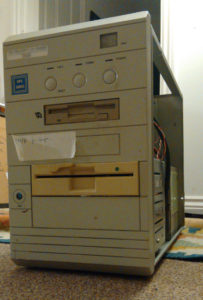 Old 386 tower PC.