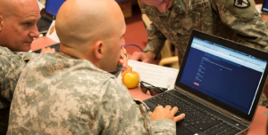 US Army soldiers using Linux in Virtualbox.