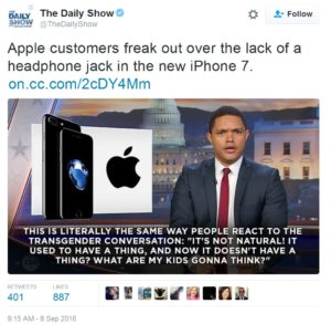 Apple phone to have no headphone jack.