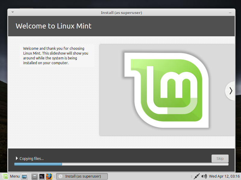 Installing Linux Mint 18.