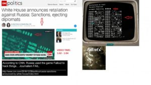 Fallout 4 hacking screenshots in CNN video.