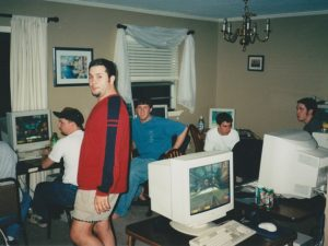 Quake 3 LAN party in the 1990s.