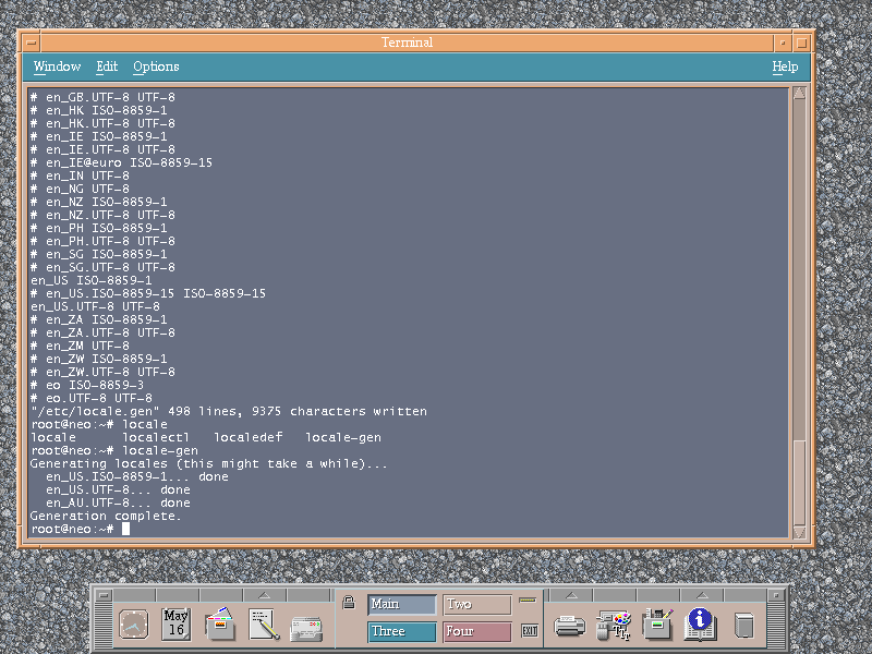 Generating a new locale for a Debian system.