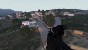 Arma 3 running on Linux.